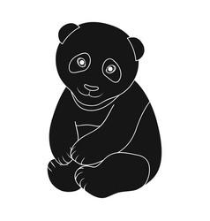 pandaanimals single icon in black style vector image vector image