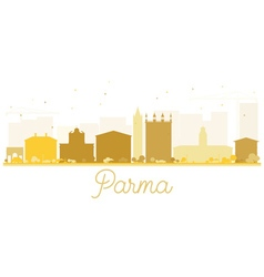 Parma city skyline golden silhouette vector