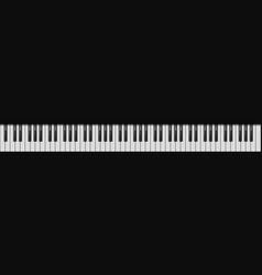 Piano 88 keys realistic style vector