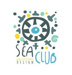 sea club original logo design summer travel and vector image vector image