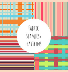Set of seamless colorful patterns for textile vector