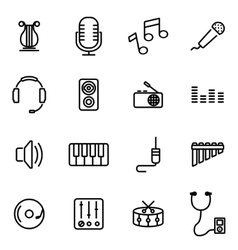 thin line icons - music vector image vector image