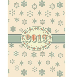 vintage 2013 background and ribbon vector image