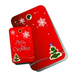 Christmas tags vector