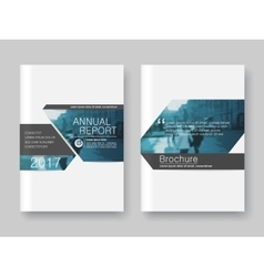 Cover design annnual report flyer presentation vector