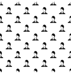 Woman with bangs avatar pattern simple style vector