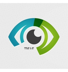 Colorful eye paper design vector