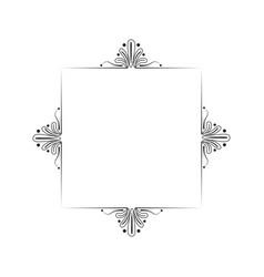 black vintage classic monogram frame vector image