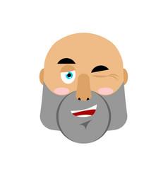 brutal man winks emoji men face happy emotion vector image