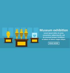 Museum exhibition banner horizontal concept vector