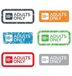 18 years old sign adults content only vector