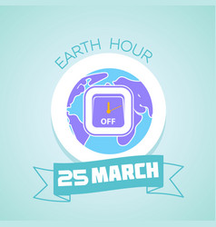 25 march earth hour vector