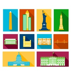 Landmarks of united states of america vector
