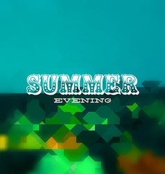 Summer evening card vector