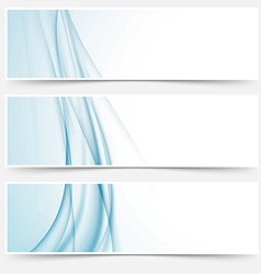 Swoosh blue modern abstract web element set vector
