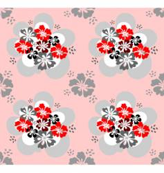 Seamless pattern with flowers design vector