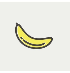 Banana fruit thin line icon vector