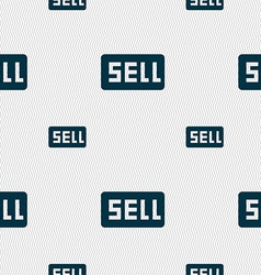 Sell contributor earnings icon sign seamless vector