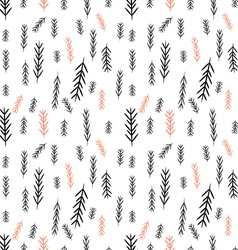 Seamless pine tree graphics pattern vector image