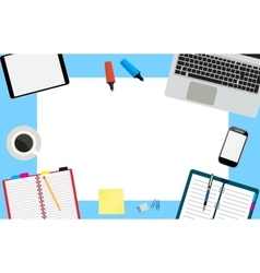 Office desktop workspace vector