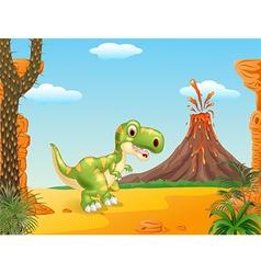 A cute tyrannosaurus character vector image