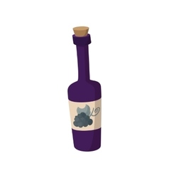 A bottle of wine icon cartoon style vector