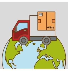 Delivery and planet design vector