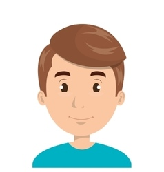 Young man face cartoon design vector