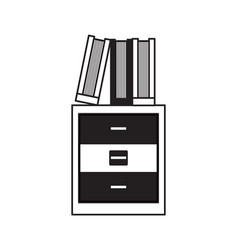 Academic books icon vector