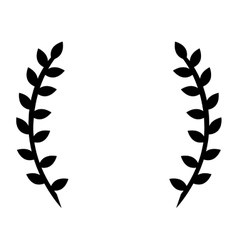 black laurel wreath vector image