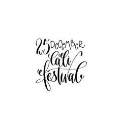 Cali festival hand lettering congratulation vector