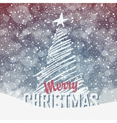 christmas tree card design vector image