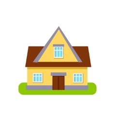Classic cottage suburban house exterior design vector