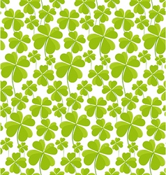 Clovers seamless pattern st patricks day vector