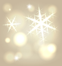 Golden snowflake background vector image
