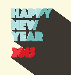 Happy New Year 2015 Title in Retro Style vector image vector image