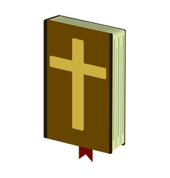 holy bible cartoon icon vector image