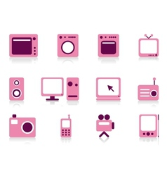 Home appliance objects set vector image