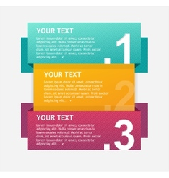 Infographics options banner 1 2 3 vector