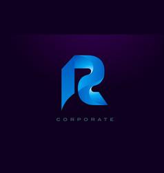 Letter r logo r letter design vector