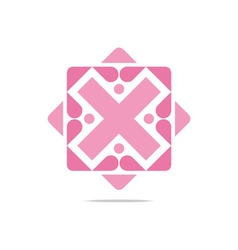 letter x design love business vector image vector image