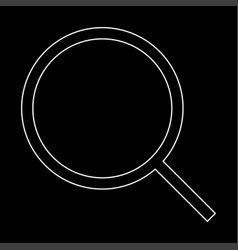 Magnifying glass or loupe the white path icon vector