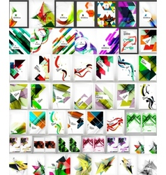 Mega collection of geometric shape abstract vector