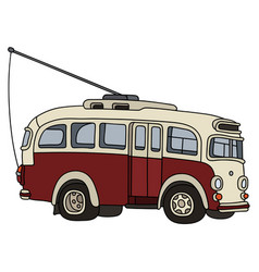 Old trolley bus vector