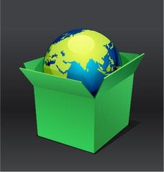 planet in the box vector image vector image