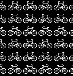 Seamless bicycle pattern black and white vector