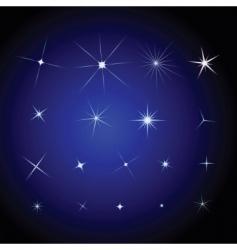 set stars design elements vector image vector image