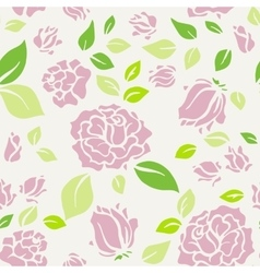Shabby Chic Rose Pattern and seamless background vector image