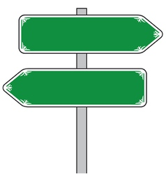 sign direction vector image vector image