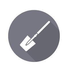 Tool icon spade shovel instrument work job vector
